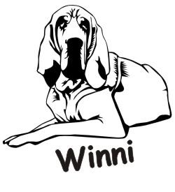 bloodhound hundeaufkleber