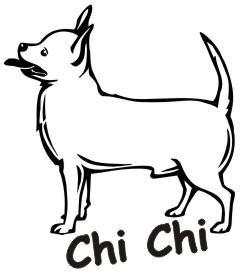 chihuahua hundeaufkleber