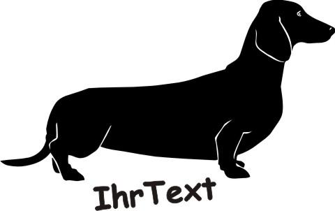 dachshund hundeaufkleber