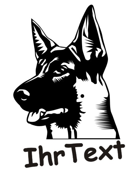 deutsche schaeferhund hundeaufkleber