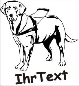 blindenfuehrhund hundeaufkleber
