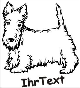 scottish terrier hundeaufkleber