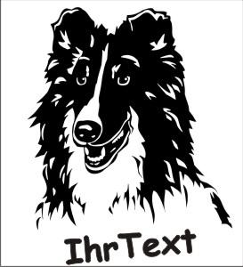 shetland schaeferhund hundeaufkleber