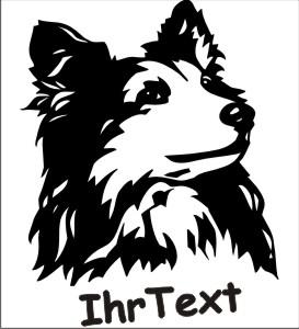scheltie schaeferhund hundeaufkleber
