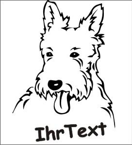 west highland terrier hundeaufkleber
