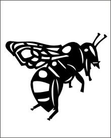 Biene Aufkleber