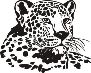 leopard aufkleber