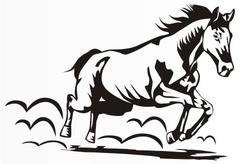 pferd pferdesport aufkleber
