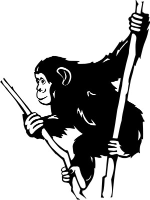 schimpanse aufkleber
