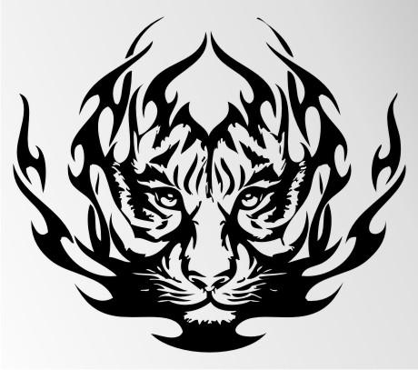 tiger autoaufkleber