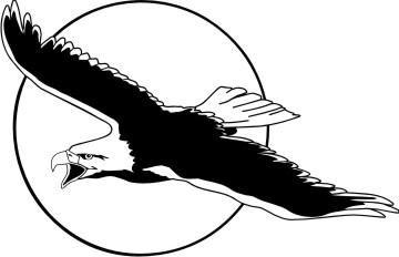 fliegender adler aufkleber