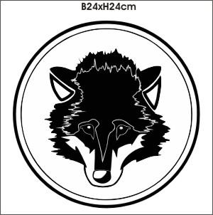 wolf kopf wolfkopf aufkleber