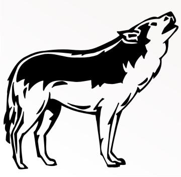 wolf autoaufkleber