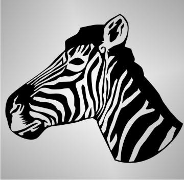 zebra autoaufkleber