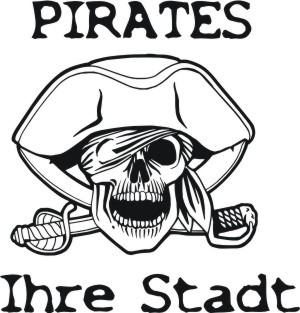 totenkopf pirates aufkleber