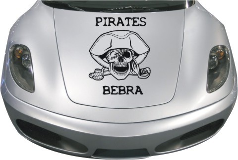 totenkopf aufkleber pirates