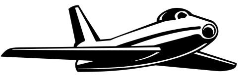 aufkleber flugzeug fighter