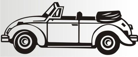 Aufkleber Vw Käfer Cabrio Oldtimer
