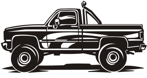 pickup truck aufkleber