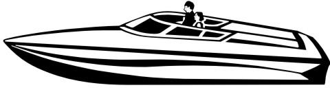 rennboot aufkleber