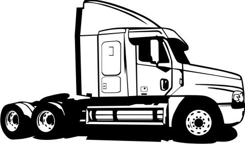 sattelzug lkw truck aufkleber