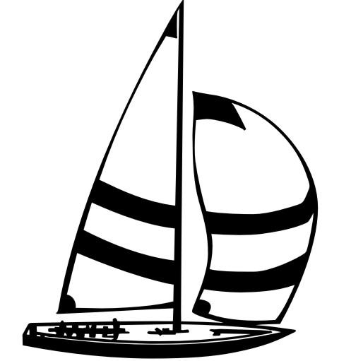 segelboot aufkleber
