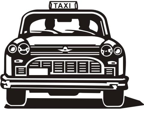 taxi aufkleber