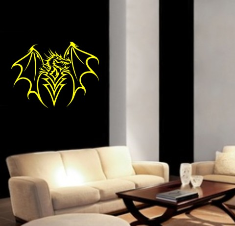 drache wandtattoo tapeten deko mo033. Black Bedroom Furniture Sets. Home Design Ideas