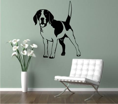wandtattoo hund beagle DR