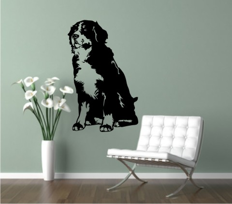 wandtattoo bernese mountain dog