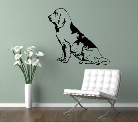 wandtattoo bloodhound 03DR