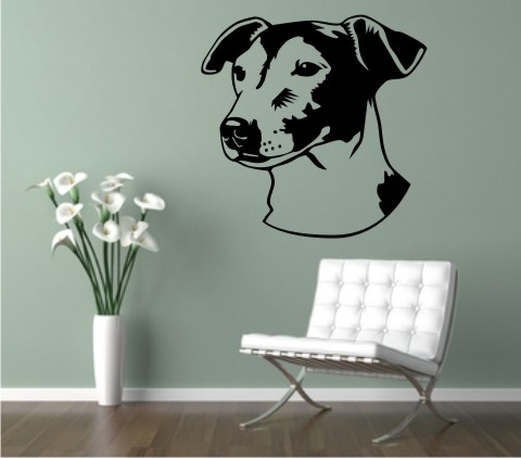 wandtattoo jack russell 02dr hund