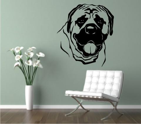 wandtattoo mastiff hund