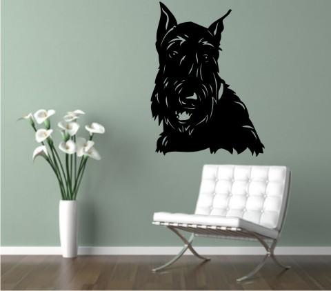 wandtattoo scottish terrier 01 hund