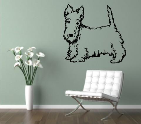 wandtattoo scottish terrier 02 hund