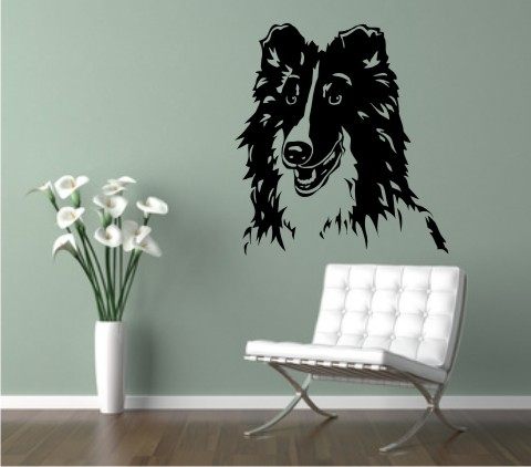 wandtattoo shetland schaeferhund 01