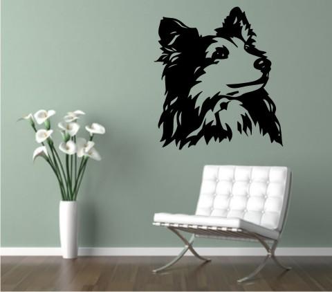 wandtattoo shetland sheepdog 02 hund