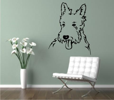 west highland terrier wandtattoo