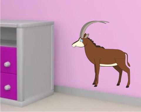 antilope wandtattoo