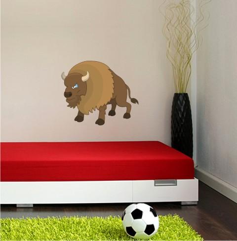 bison wandtattoo