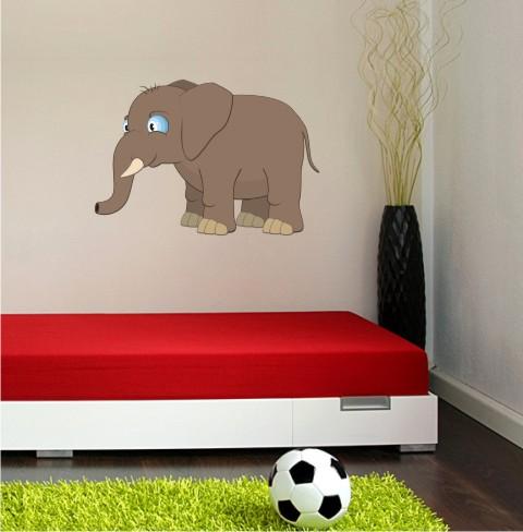 elefant wandtattoo