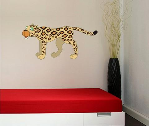 gepard wandtattoo