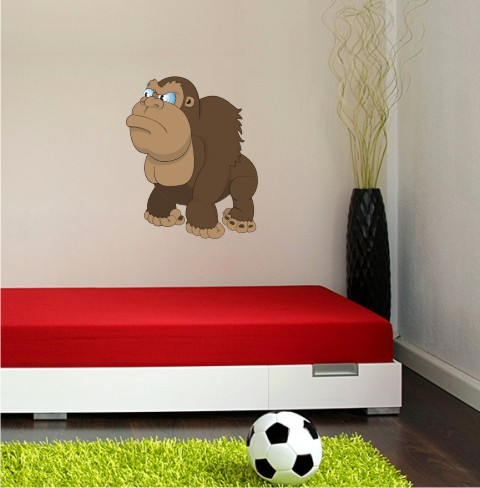 gorila wandtattoo