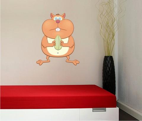 hamster wandtattoo