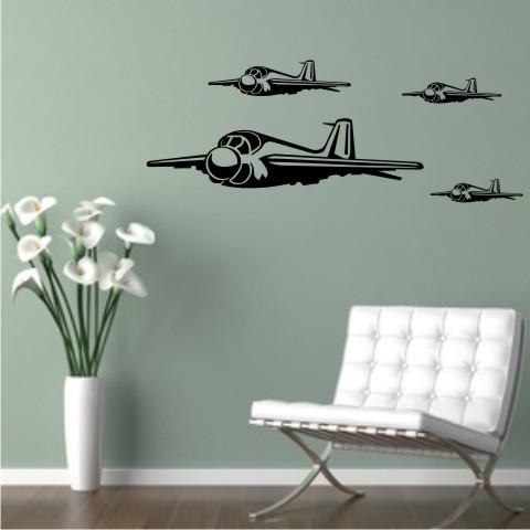 wandtattoo Jet Fighter Flugzeug