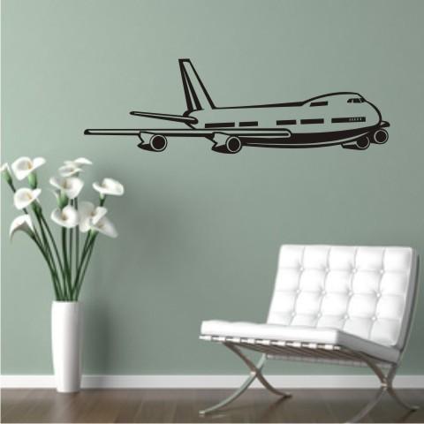 wandtattoo jetliner flugzeug