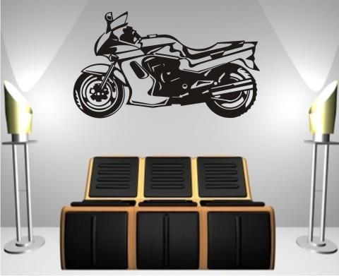 wandtattoo motorrad motorcycle