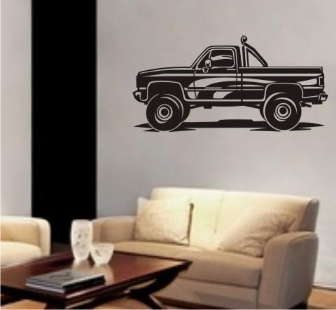 wandtattoo Pickup Truck