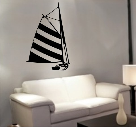wandtattoo segelboot sailboat schiff
