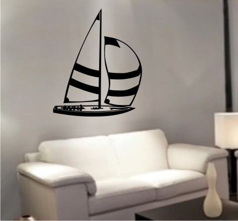 wandtattoo segelboot sailboat schiff